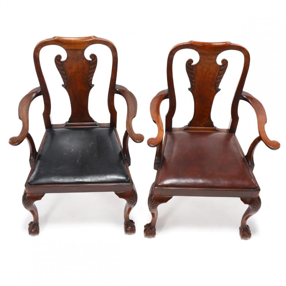 Set of Eight Chippendale Style Carved Dining Chairs - 5