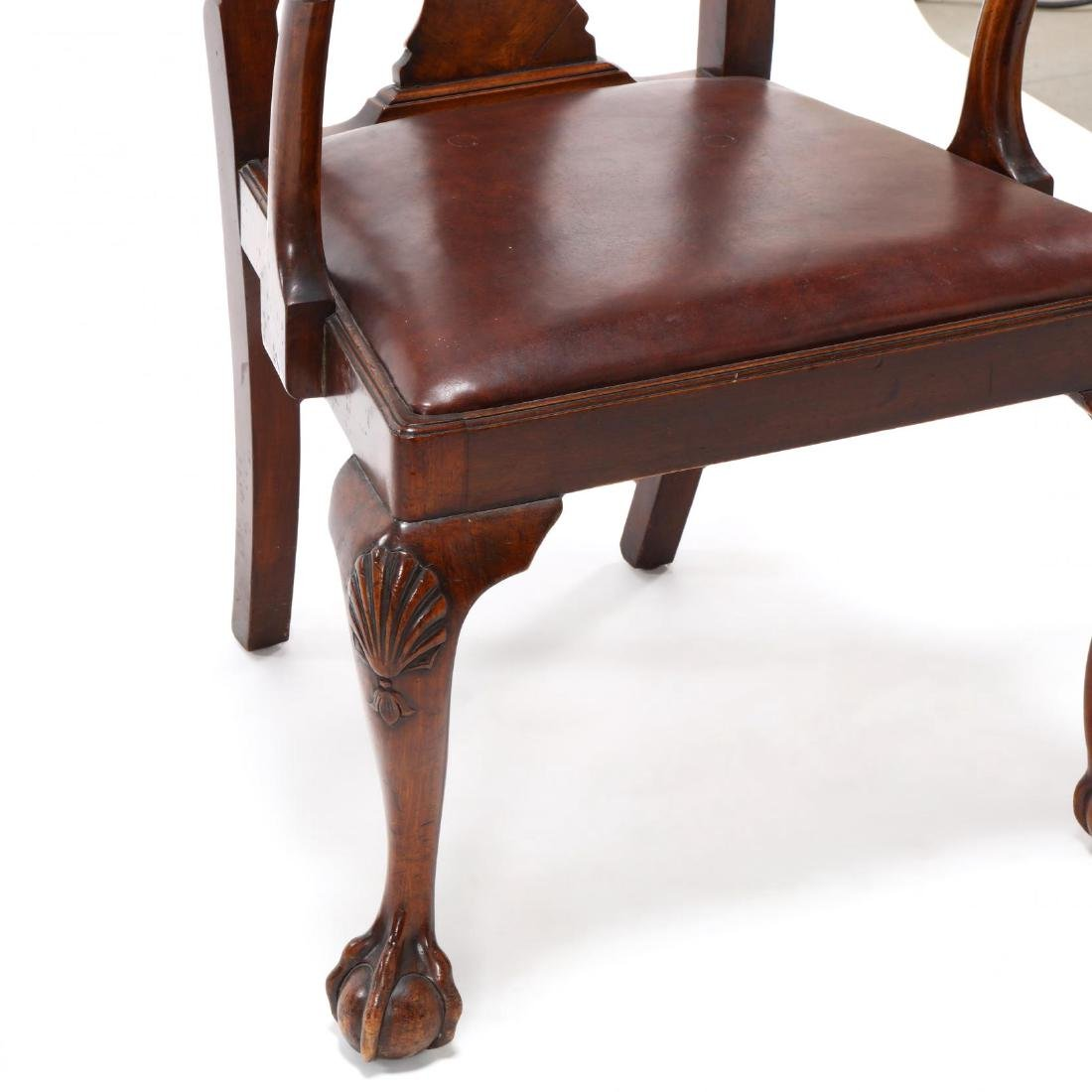 Set of Eight Chippendale Style Carved Dining Chairs - 6
