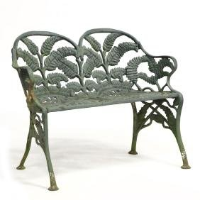 James W. Carr, Richmond VA Cast Iron Garden Bench