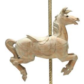 Carved Wood Jumper Carousel Horse, att. Dentzel