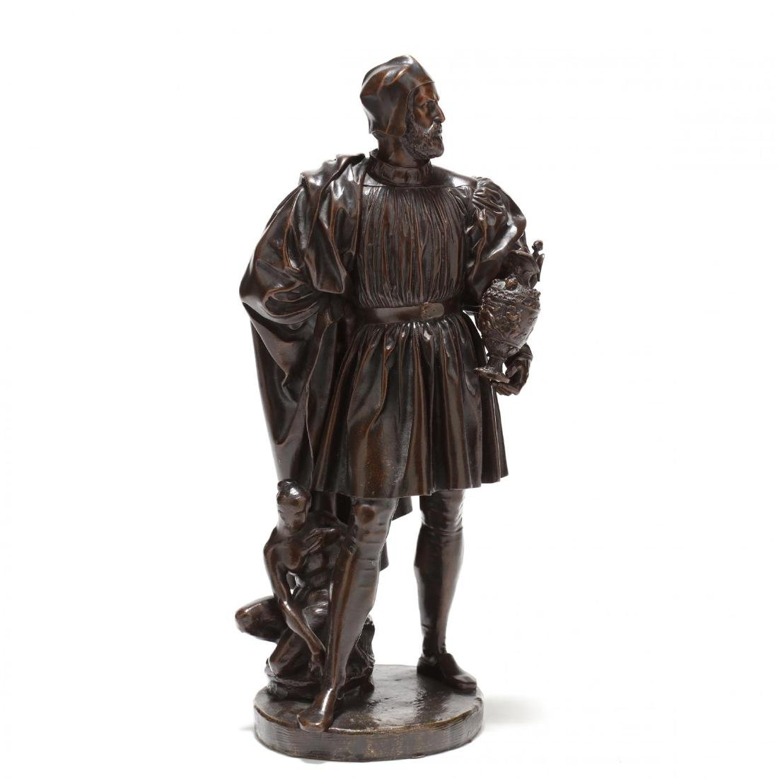 Antique Bronze Sculpture of a Renaissance Man
