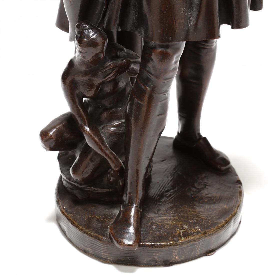 Antique Bronze Sculpture of a Renaissance Man - 2