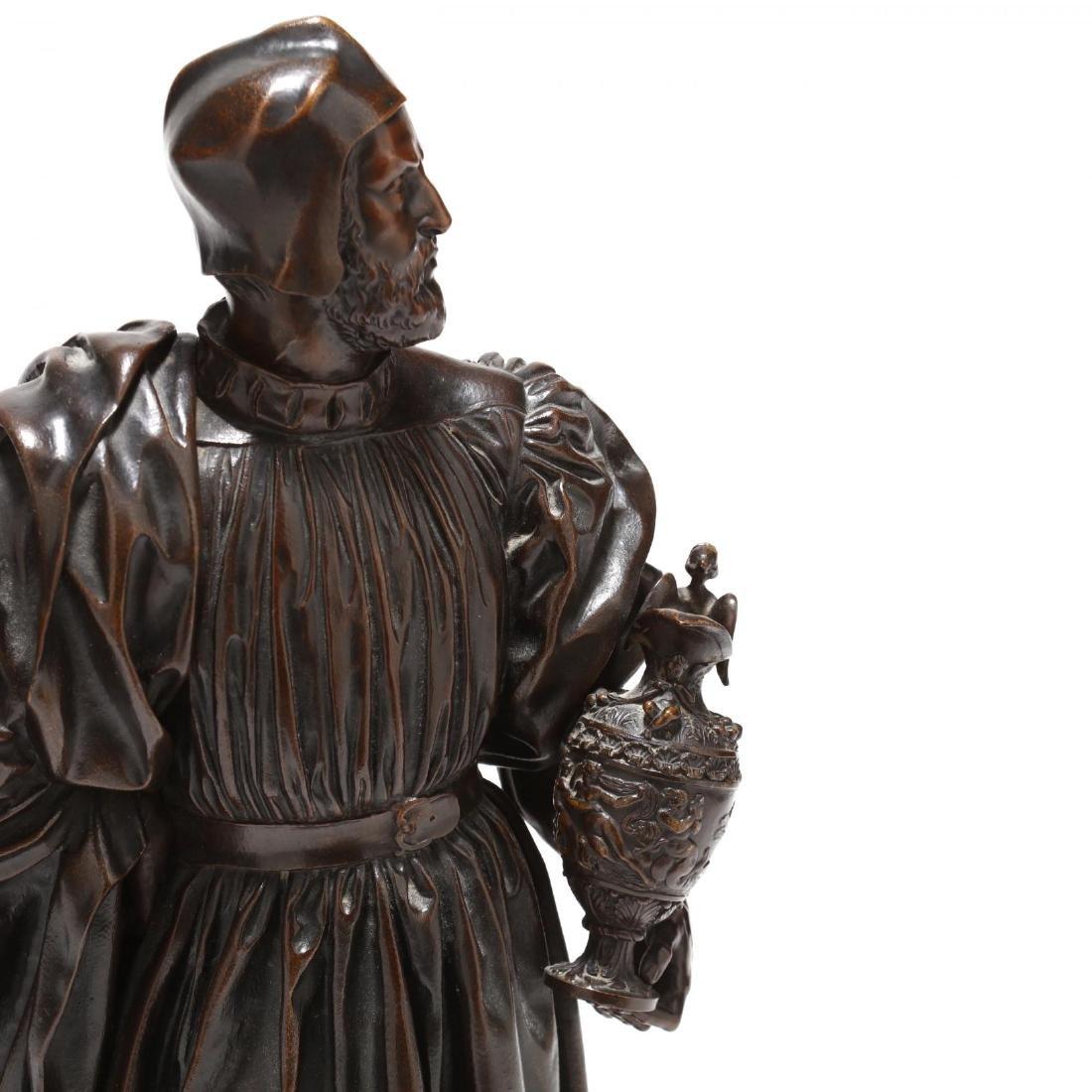 Antique Bronze Sculpture of a Renaissance Man - 3