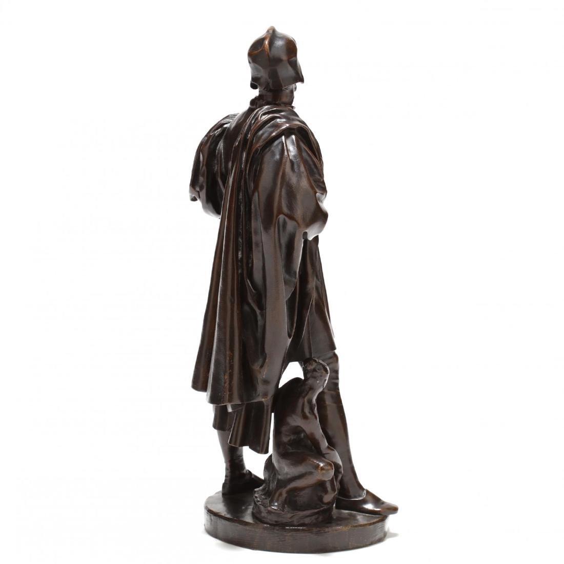 Antique Bronze Sculpture of a Renaissance Man - 4