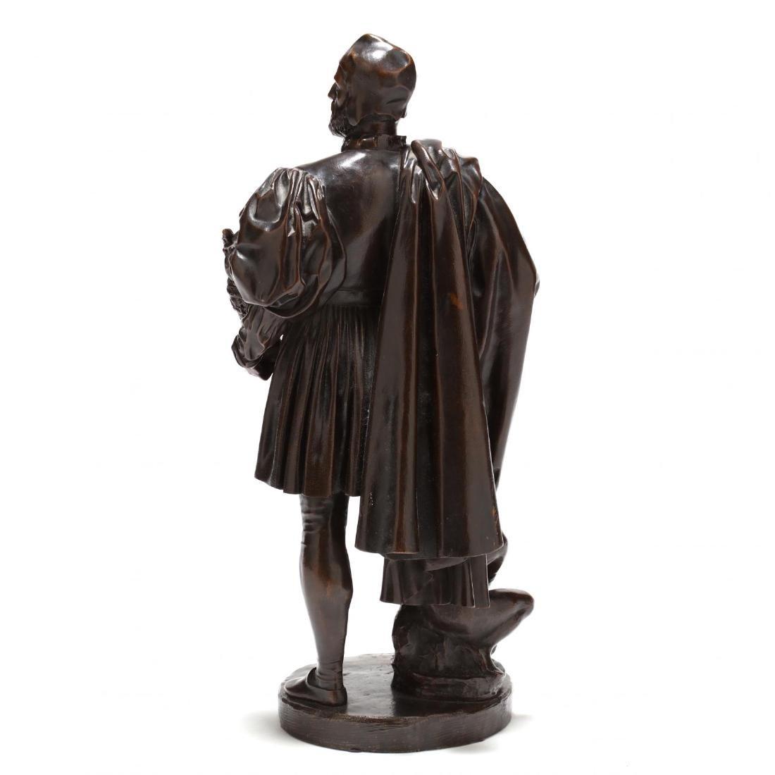 Antique Bronze Sculpture of a Renaissance Man - 5