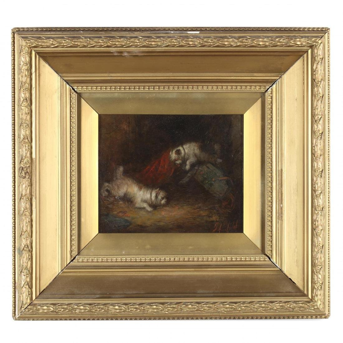 George Armfield (Br., 1808-1893), Two Terriers