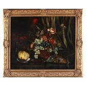 A Victorian Still Life Painting with Fruit