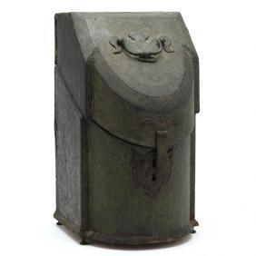 Rare Georgian Shagreen Bowfront Knife Box
