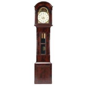 American Classical Tall Case Clock, Abraham Miller,