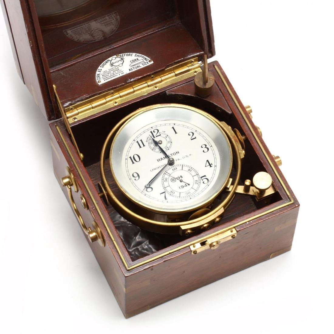 Hamilton Model 21 Ship's Chronometer - 2