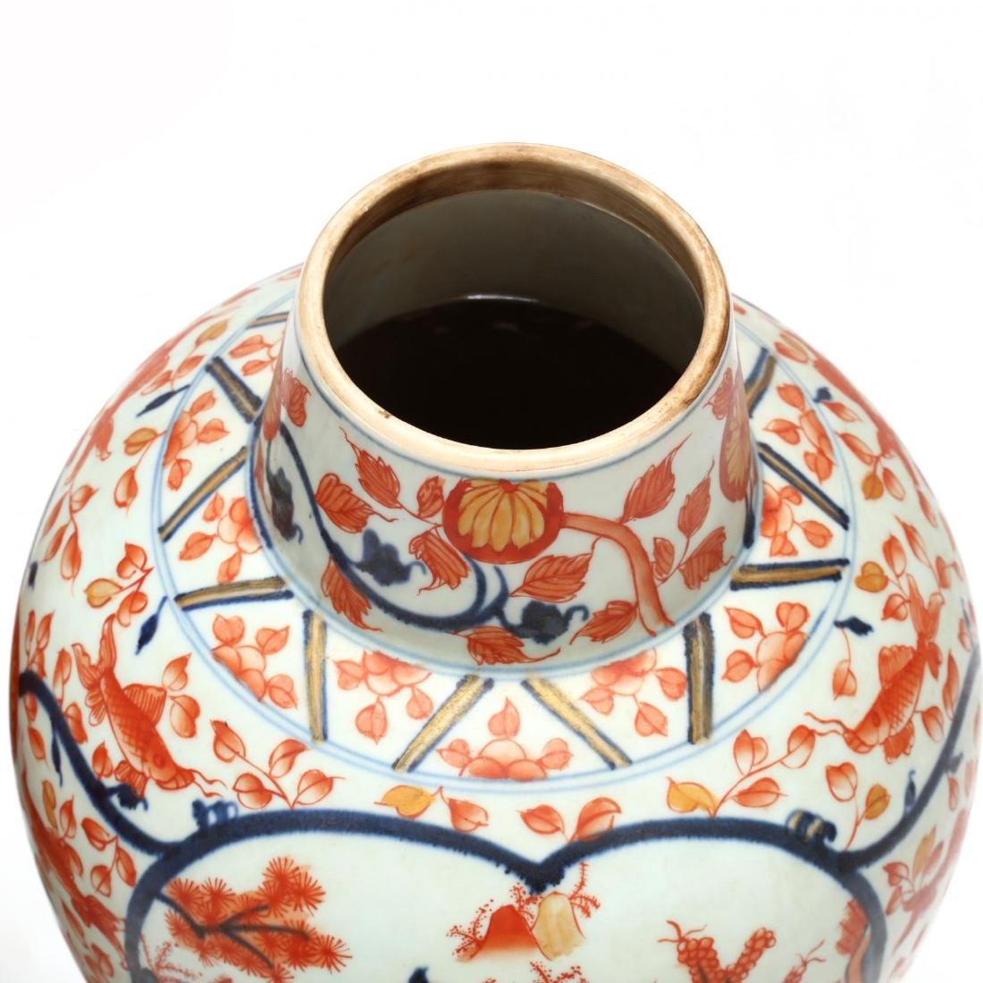 A Pair of Japanese Imari Covered Jars - 6