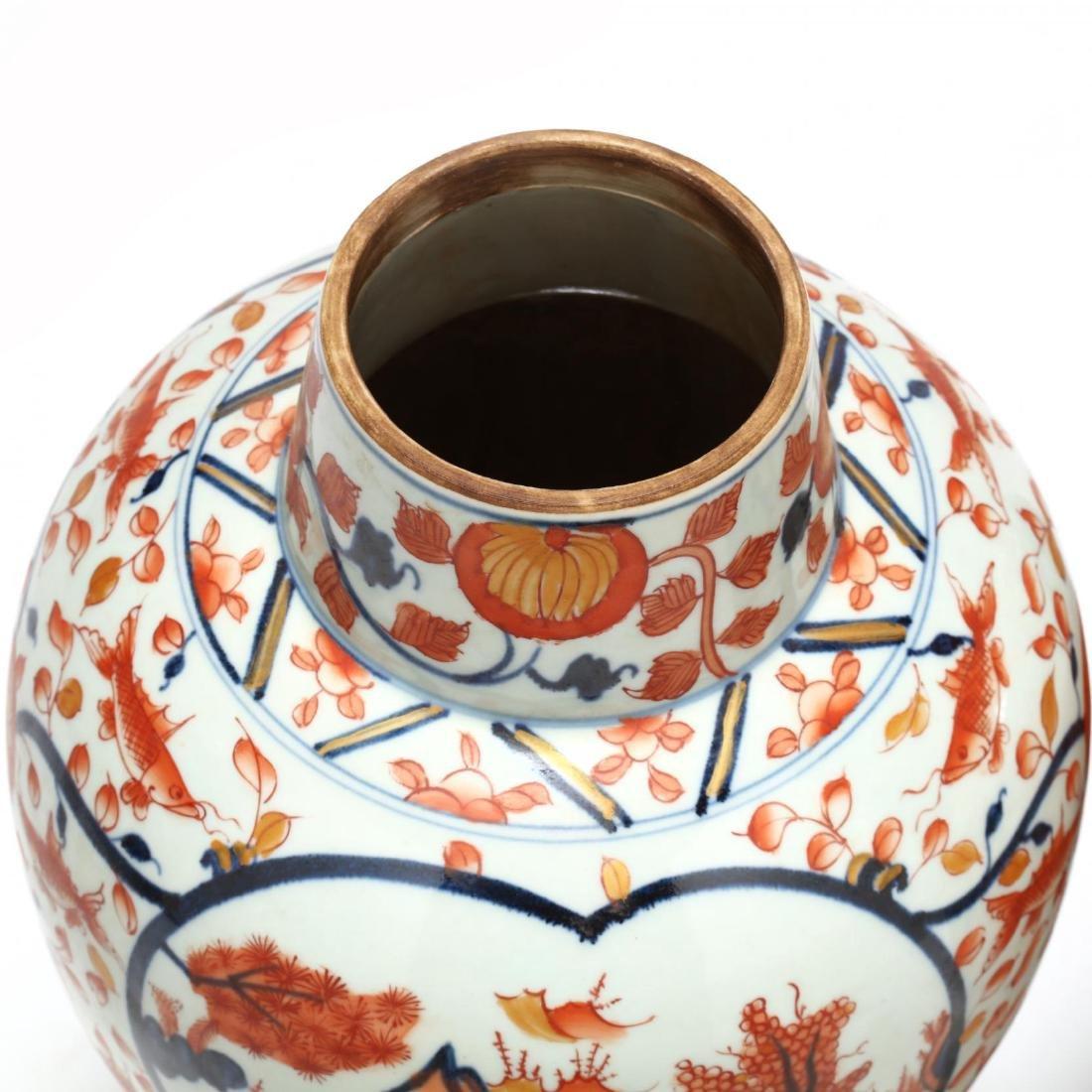 A Pair of Japanese Imari Covered Jars - 7