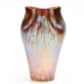 "Loetz, Pink ""Medici"" Glass Vase"
