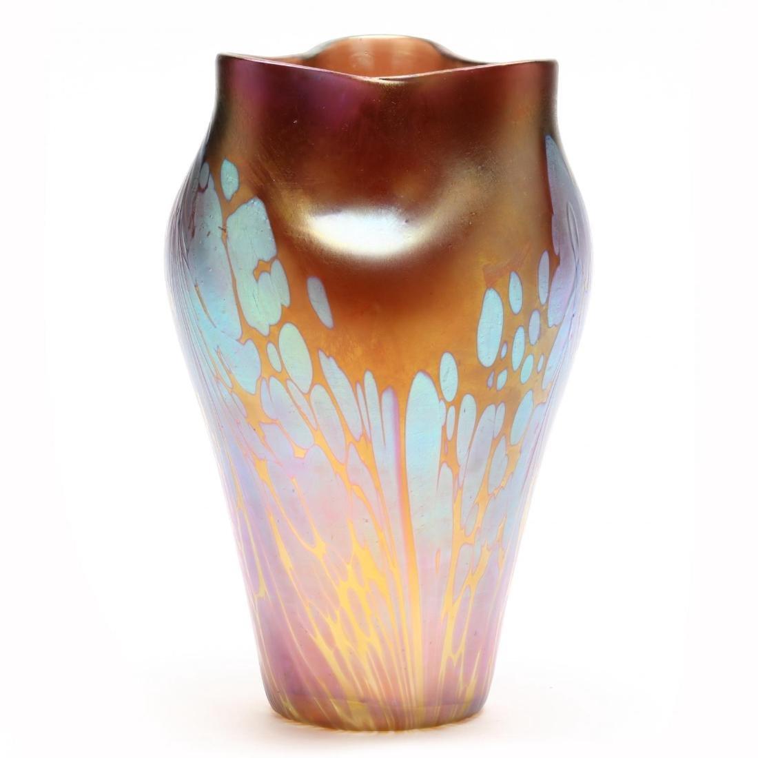 "Loetz, Pink ""Medici"" Glass Vase - 3"