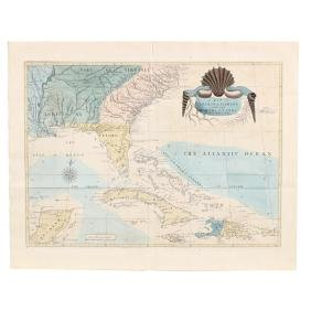 Mark Catesby's Map of Southeastern North America and