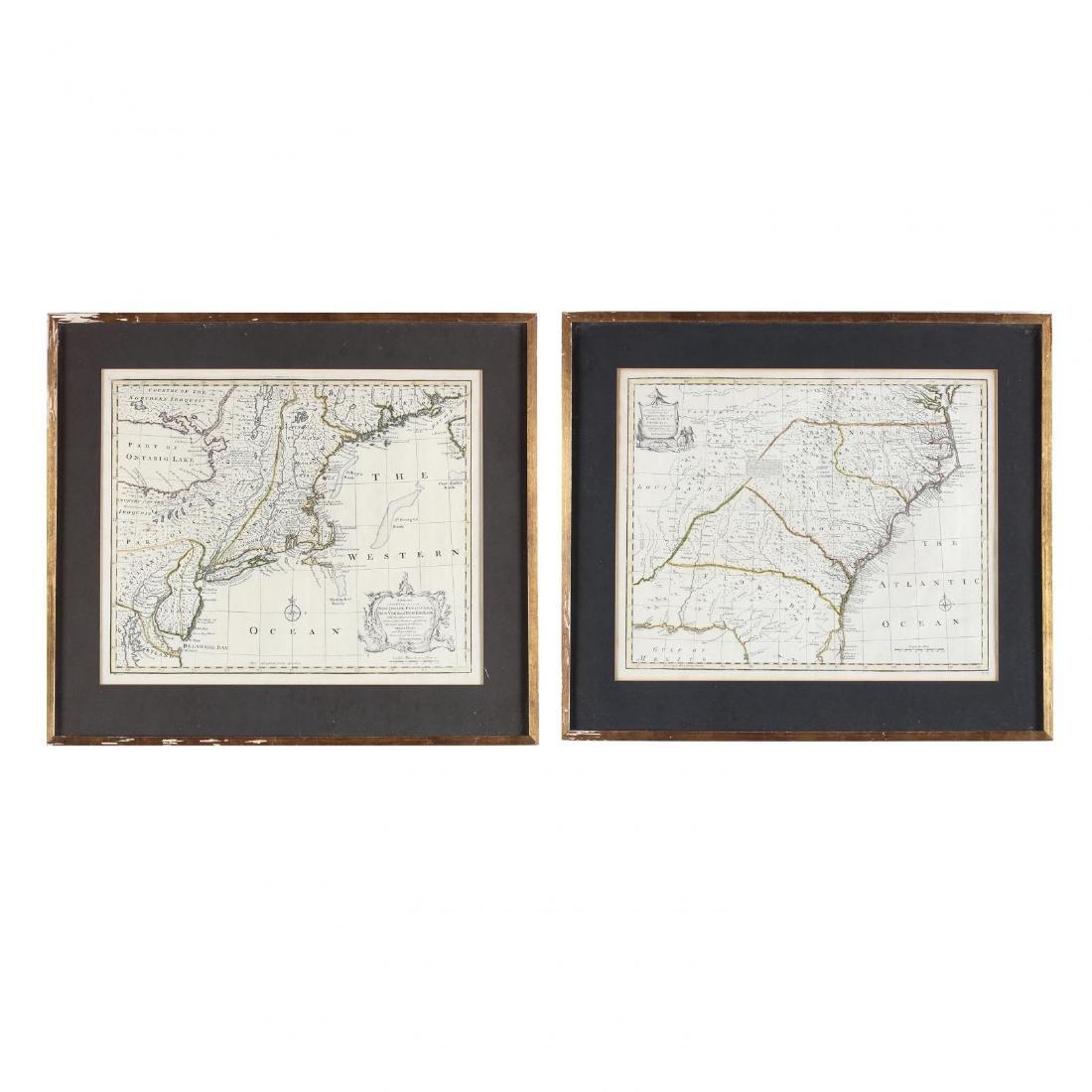 Two Emanuel Bowen Maps Showing the East Coast
