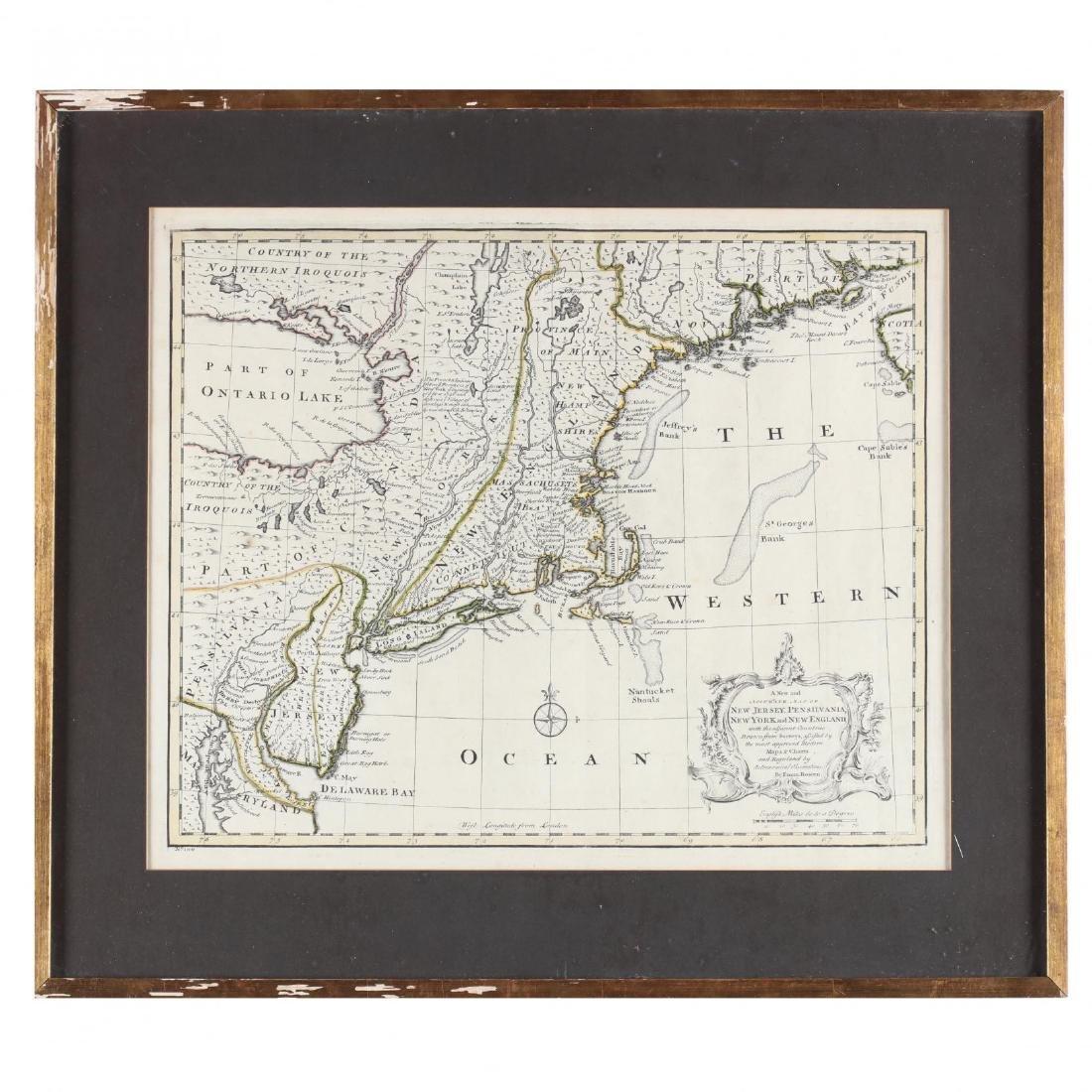 Two Emanuel Bowen Maps Showing the East Coast - 2