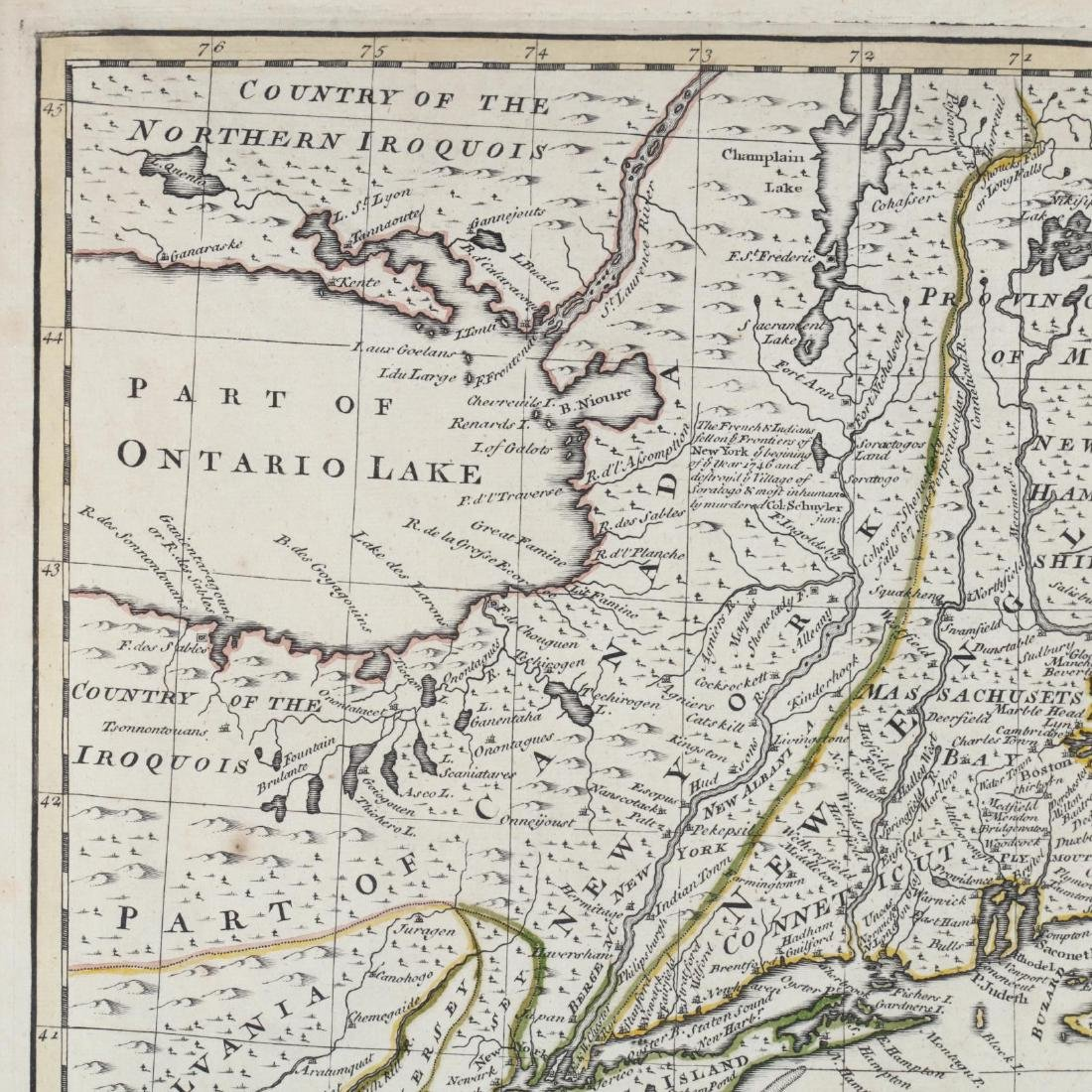 Two Emanuel Bowen Maps Showing the East Coast - 4