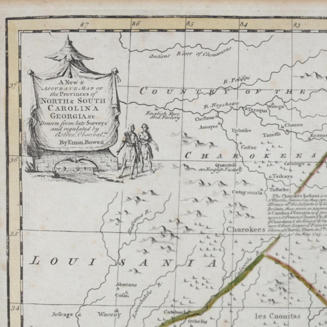 Two Emanuel Bowen Maps Showing the East Coast - 6