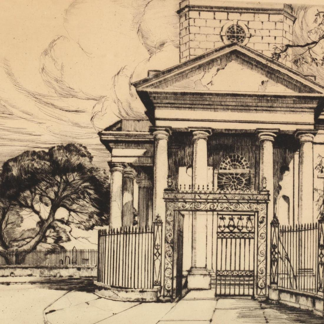 Alfred Hutty (SC/NY, 1877-1954),  Old St. Philip's - 3