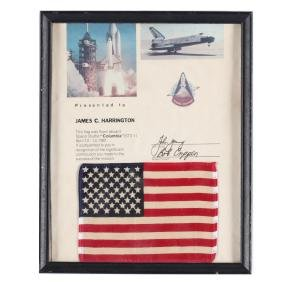 Space Shuttle  Columbia  (STS-1) Flown American Flag