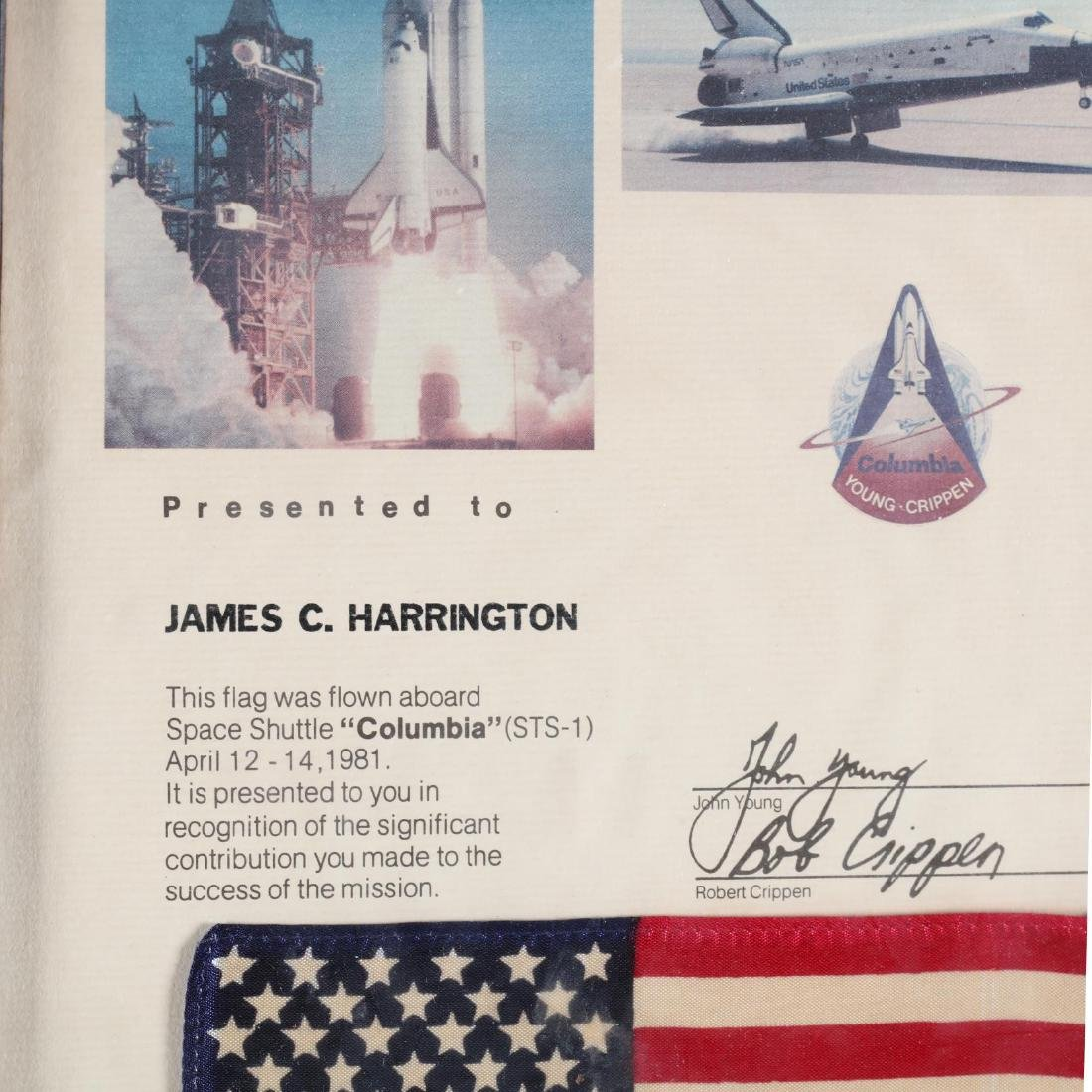 Space Shuttle  Columbia  (STS-1) Flown American Flag - 2