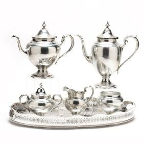 "Gorham ""Puritan"" Sterling Silver Tea & Coffee Service"