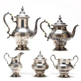 A Sterling Silver Tea & Coffee Service by Gorham