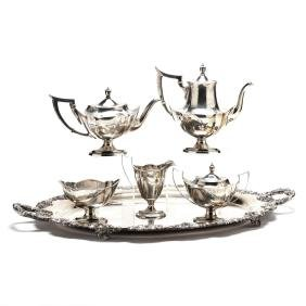 "Gorham ""Plymouth"" Sterling Silver Tea & Coffee Service"