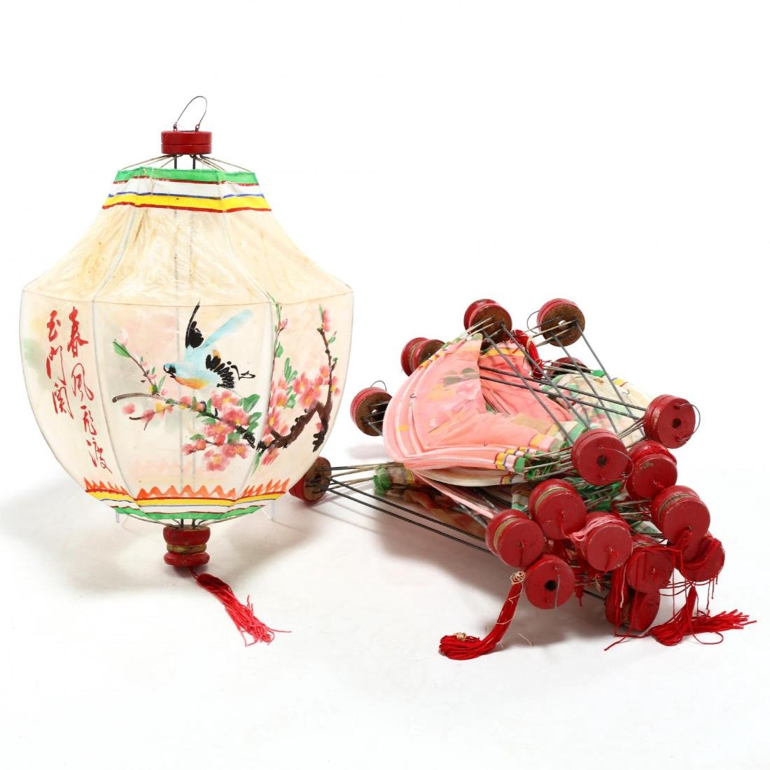 Twelve Vintage Chinese Hanging Lanterns
