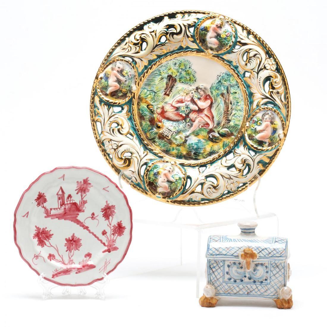 Three Italian Ceramic Pieces