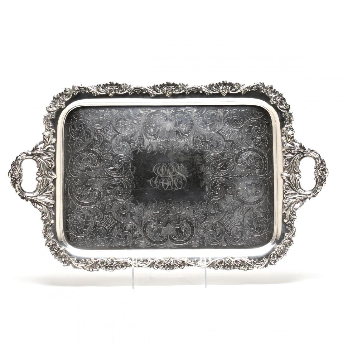 A Very Fine Large Silverplate Tray by Gorham