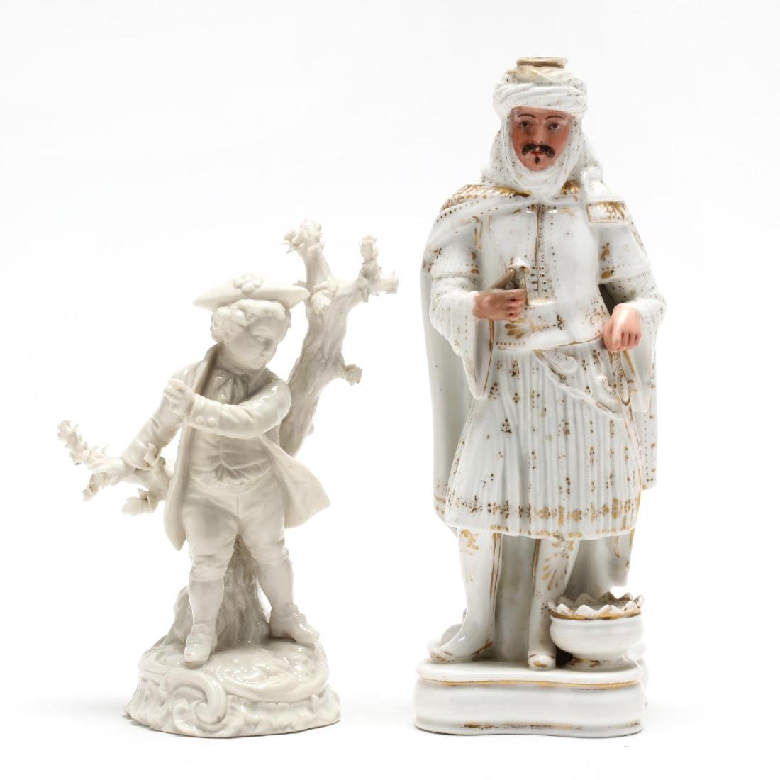 Two Antique Continental Porcelain Figures