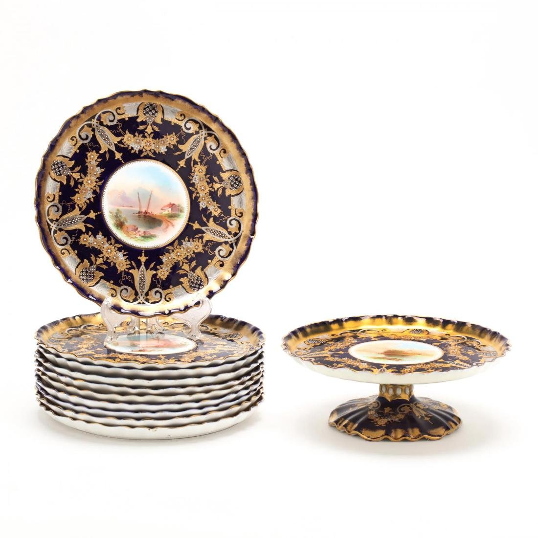 A Bishop & Stonier Porcelain Dessert Set