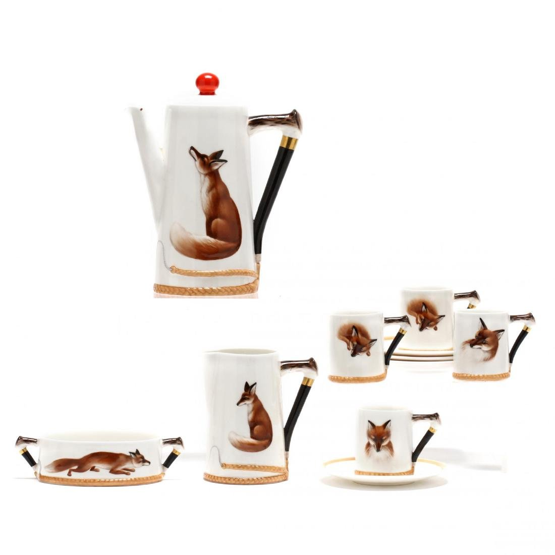 """Reynard The Fox"" by Royal Doulton Coffee Service"