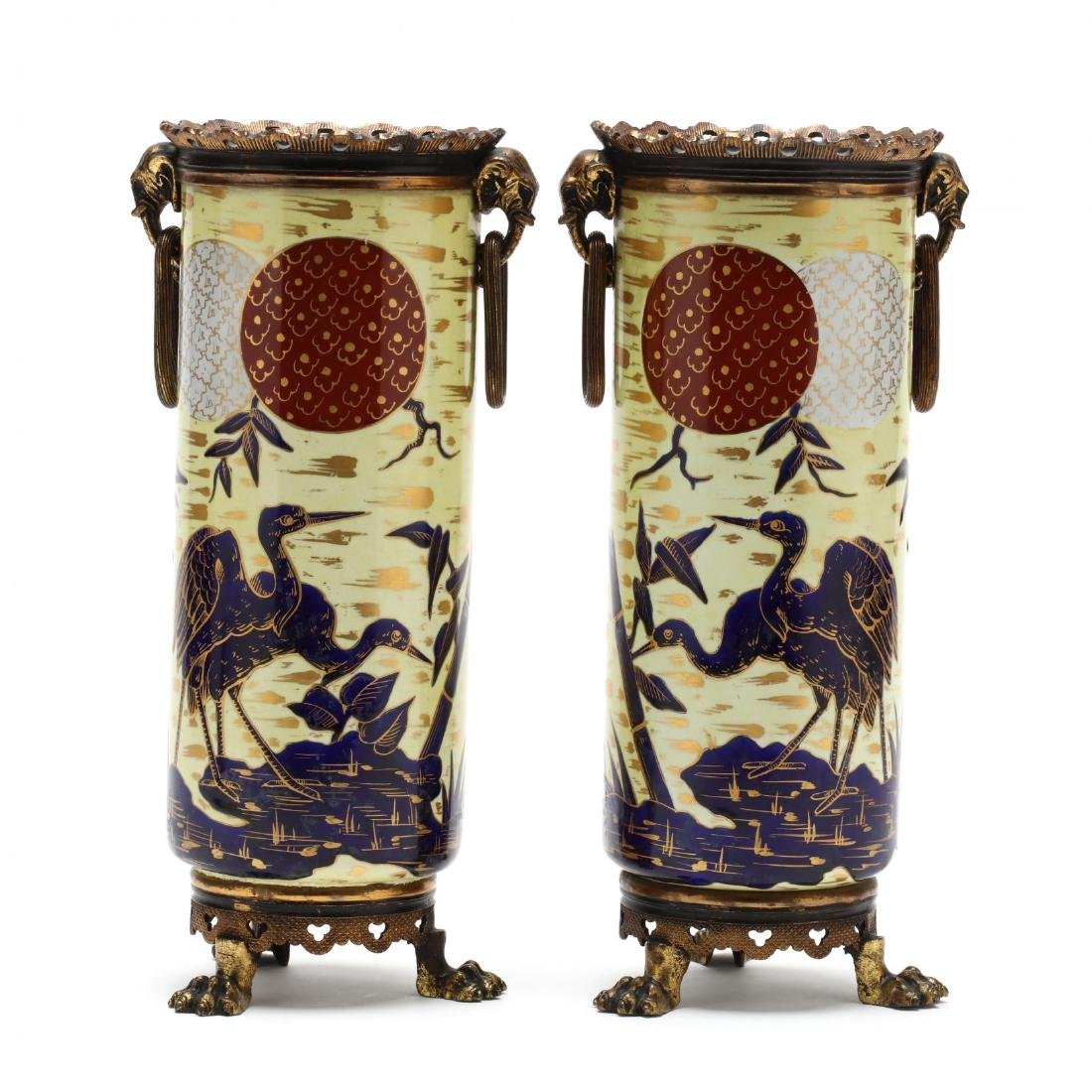 Choisy Le Roi, Pair of Aesthetic Period Ormolu Mounted