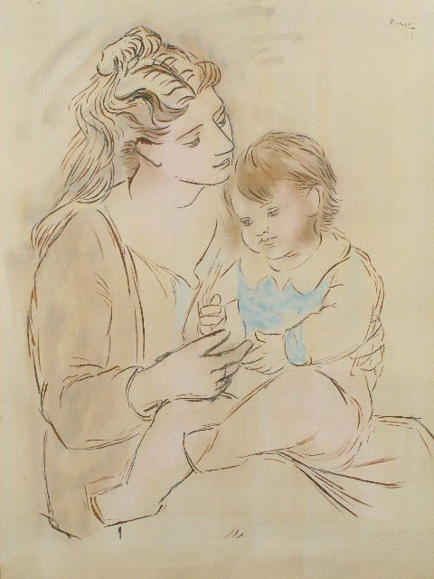 7: Pablo Picasso (Spanish, 1881-1973), Mother & Child