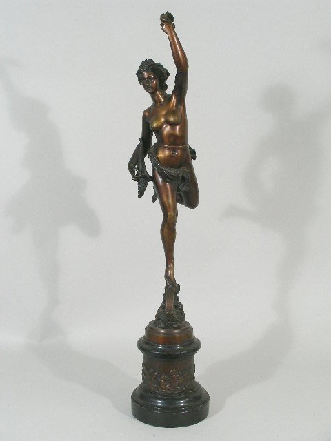 11: Bronze Sculpture of Pax, French, 19th c.,