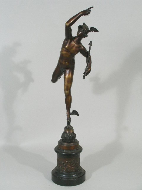 12: Bronze Sculpture of Mercury, French, 19th c.,