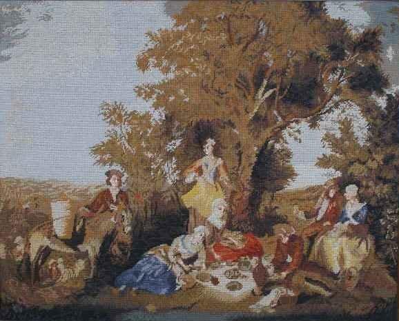 14: Needlework Tapestry, 20th c.,