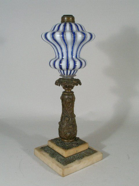 19: Fluid Lamp, probably English, 19th c.,