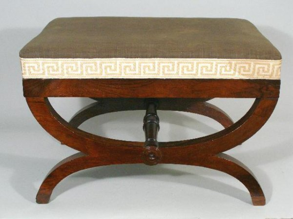 20: Curule Bench, New York, early 19th c.,