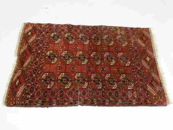 327: Semi-Antique Persian Area Rug, Tekke,
