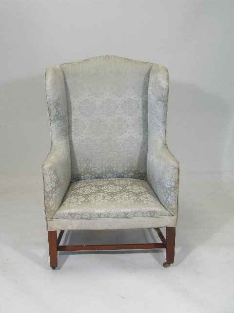 1009: Wing Chair, Chippendale, Probably English,