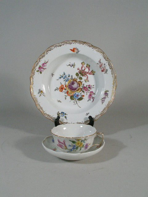 1012: Two Pieces Meissen, 19th c.,