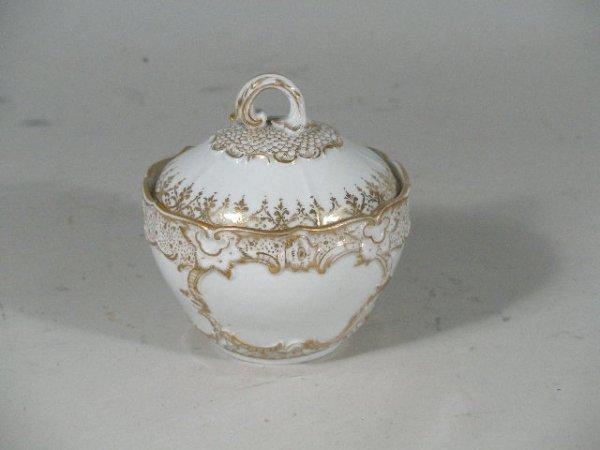 1013: Meissen Sugar Bowl w/Lid, 19th c.,