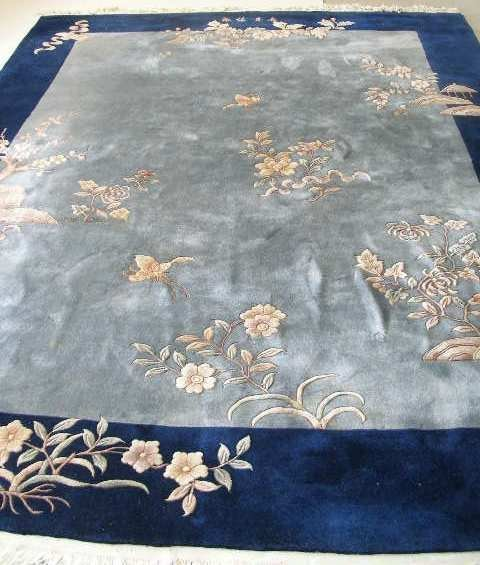 1016: Chinese Aubusson Style Room Size Rug,