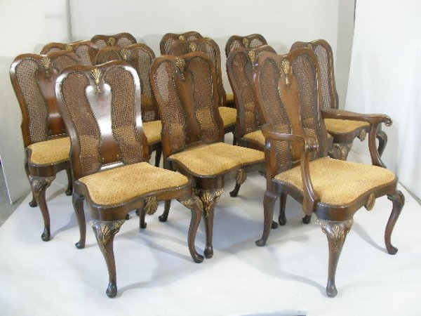 1018: Set of Twelve George I Style Dining Chairs, early