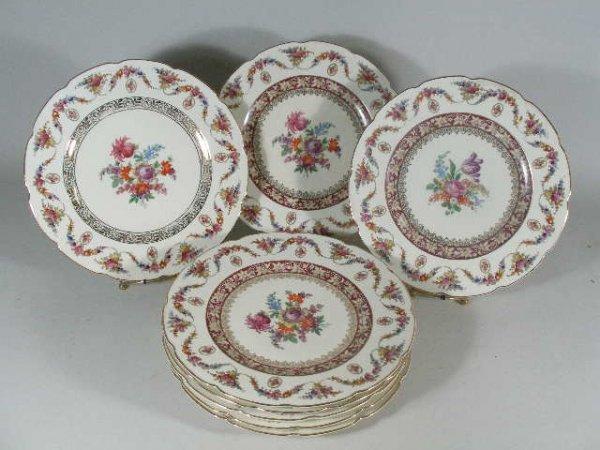 1021: Set of Eight Dinner Plates by Schumann Bavaria,