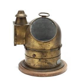 Vintage Brass Ship's Binnacle